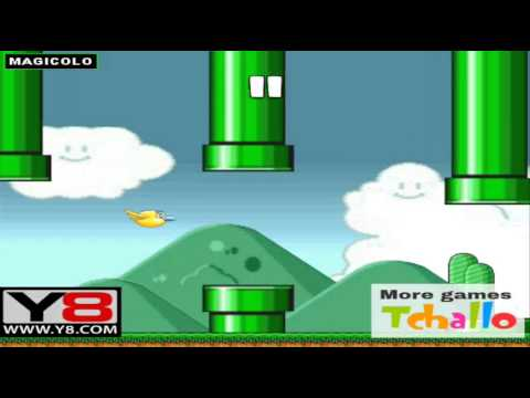 Flappy Bird in Mario World - Y8 game to play online 2014 ...