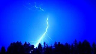 Blesky při bouřce