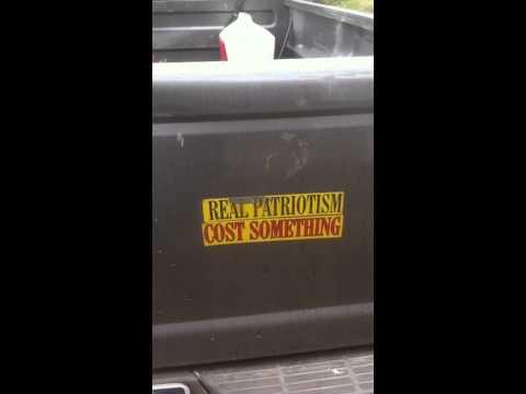 "Subject-Verb Grammar Error: Bumpersticker Reads ""Real Patriotism Cost Something"""