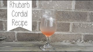 Rhubarb Cordial Recipe : May 2015 | The Homestead Kitchen