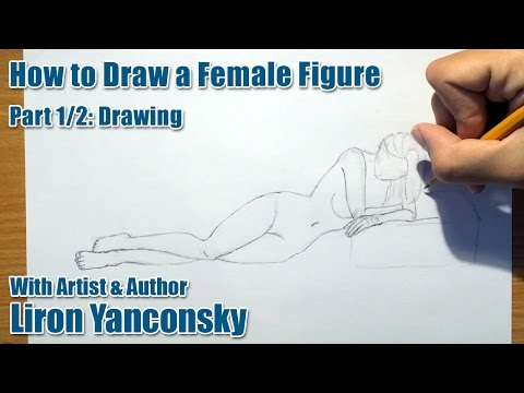 How To Draw A Female Figure Laying On The Floor: Part 1/2 - Drawing