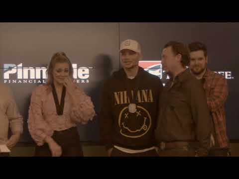Kane Brown and Lauren Alaina are surprised...