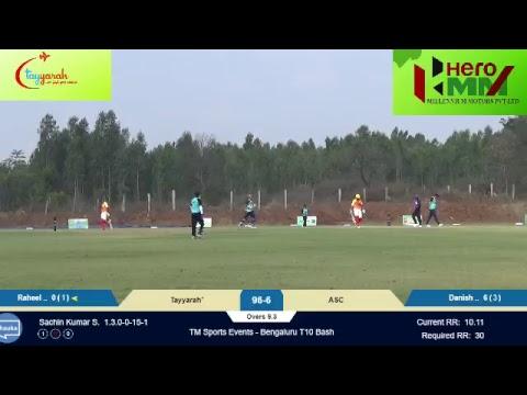 TM Sports Events - Bangalore T10 Bash: Tayyarah vs. ASC