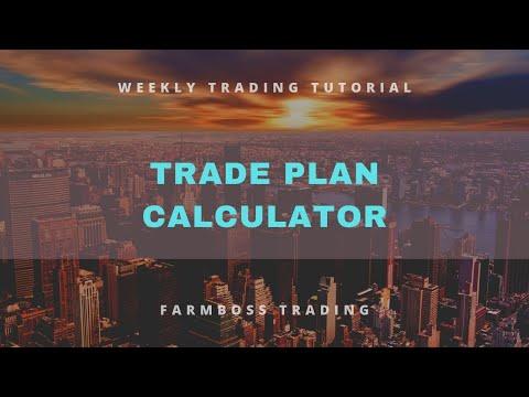 Trade Plan Calculator (Weekly Trading Tutorial)
