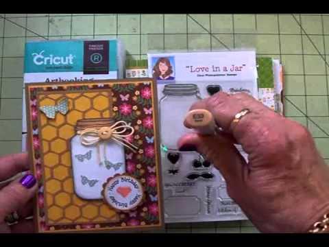 JAR OF BUTTERFLIES CRICUT BIRTHDAY CARD