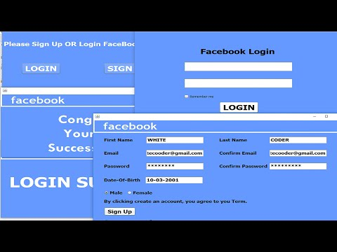 How To Create ||Facebook Login And Signup|| |System| In Java |GUI| JavaNetBeans