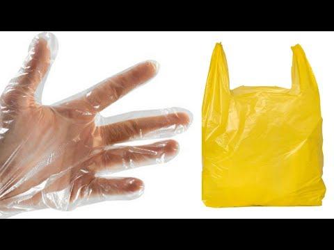 Как сделать перчатки из пакета | how to make gloves from a plastic bag