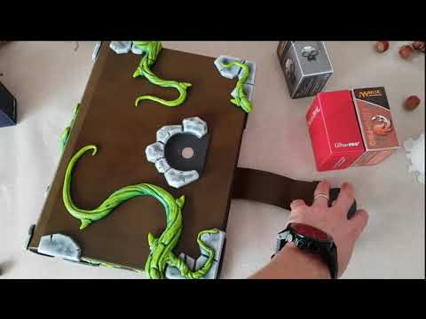 Custom grimoire style card deck box.