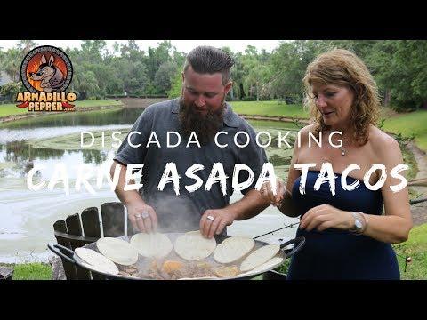 Discada Cooking   Carne Asada Tacos on the Plow Disc