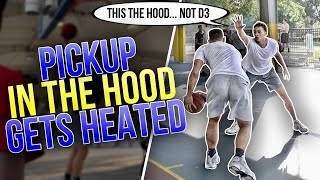 Former D3 Hooper Mic'd Up VS Trash Talkers IN THE HOOD! *PISSED*