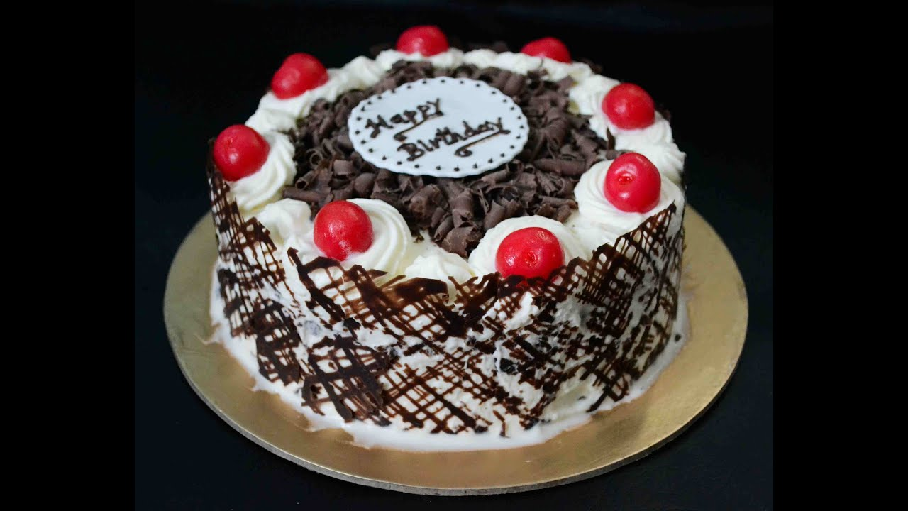 How To Make Eggless Black Forest Cake With An Easy