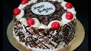 How To Make Eggless Black Forest Cake With an Easy Chocolate Collar