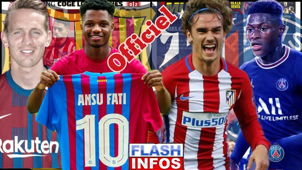 Download 🔥Officiel Griezmann retourne à L'Atlético, Luke De Jong au Barça, Ansu Fati prend le Numéro 10,Infos