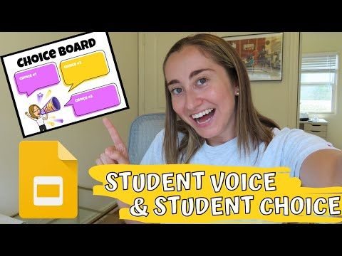 STUDENT CHOICE! How to Make a Choice Board with Google Slides | Distance Learning HACK