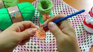 Вяжем простые пинетки крючком