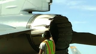 F-16 engine START-UP! Airman diligently prepares a FIGHTING FALCON for another THUNDEROUS TAKE-OFF! thumbnail
