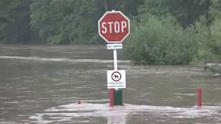 Hochwasser an der Sauer 01 Juni 2018