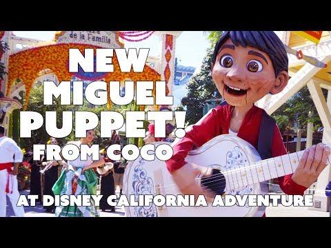Coco al Celebration With New Miguel Puppet Disneyland California Adventure