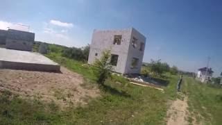 Дом Андрюхи. 2 серия. Как сделали коробку дома из газосиликата с плоской крышей.