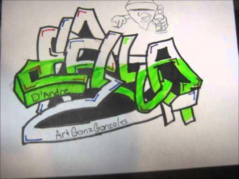Graffiti Drawing Process Bella