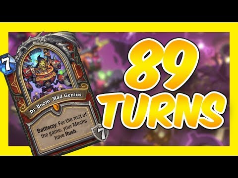 Control Warrior Mirror Game Reaches TURN LIMIT | Rise Of Shadows Hearthstone