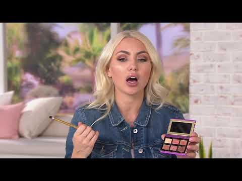 Tarte Tartelette Flirt Palette W/ Eyeshadow Brush On QVC