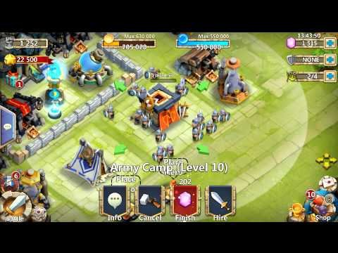 Castle Clash Upgrading Level 10 Army Camp!