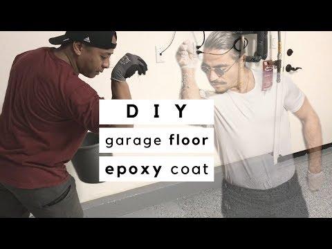 DIY Garage   HOW TO EPOXY COAT GARAGE FLOOR