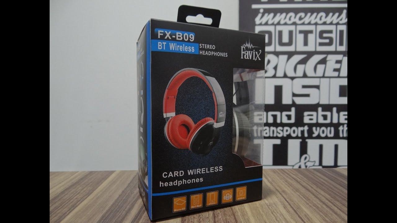 df09f7c80 Fone Favix B09 Bluetooth Sem Fio Ouvido Sd Card Fm Ultra Bass P ...