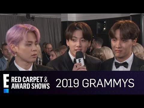 "BTS Is ""So Thankful"" for Their ""Terrific"" Fans at 2019 Grammys  E Red Carpet & Award Shows"