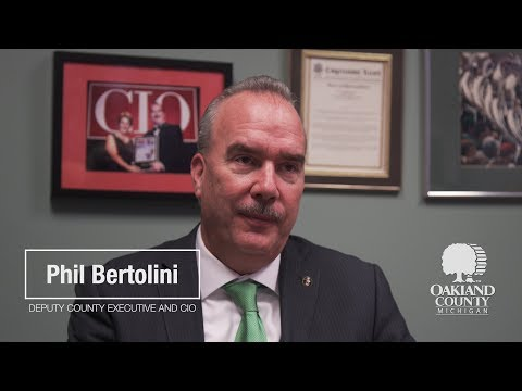 Oakland County Deputy County Executive and CIO Phil Bertolini
