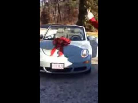 Surprise!!! Mom gets a car (VW Bug-new Beetle) for Christmas!