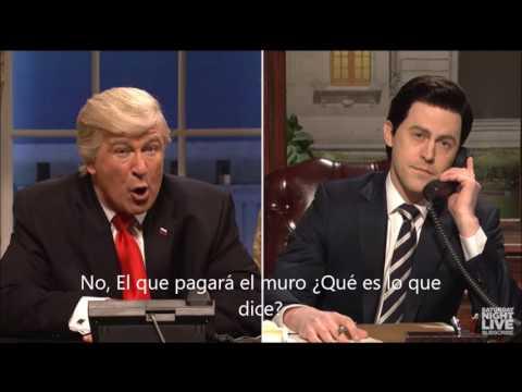 Saturday Night revela como fue la llamada de Trump a Peña (subtitulada)