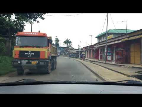 Libreville Gabon route to LDS church (La route à l'église SDJ à Libreville au Gabon)