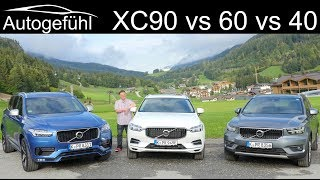 Volvo XC SUV comparison XC90 vs XC60 vs XC40 head 2 head - Autogefühl