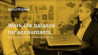Accountex 2016: Steve Pipe on work life balance for accountants