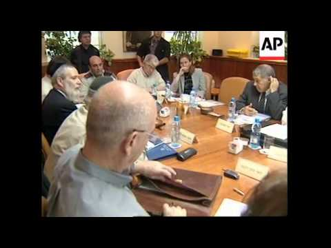 Israeli cabinet meeting, Sharon on Mofaz, curfew in Ramallah