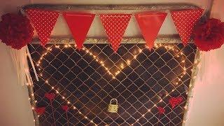 DIY Valentines Day love lock gate | Shop decorations