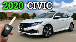 2020 Civic LX Review & Drive | Base Model Honda Civic!