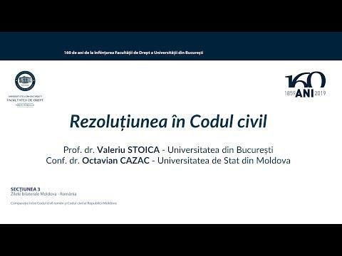 Rezolutiunea in Codul civil RO si MD