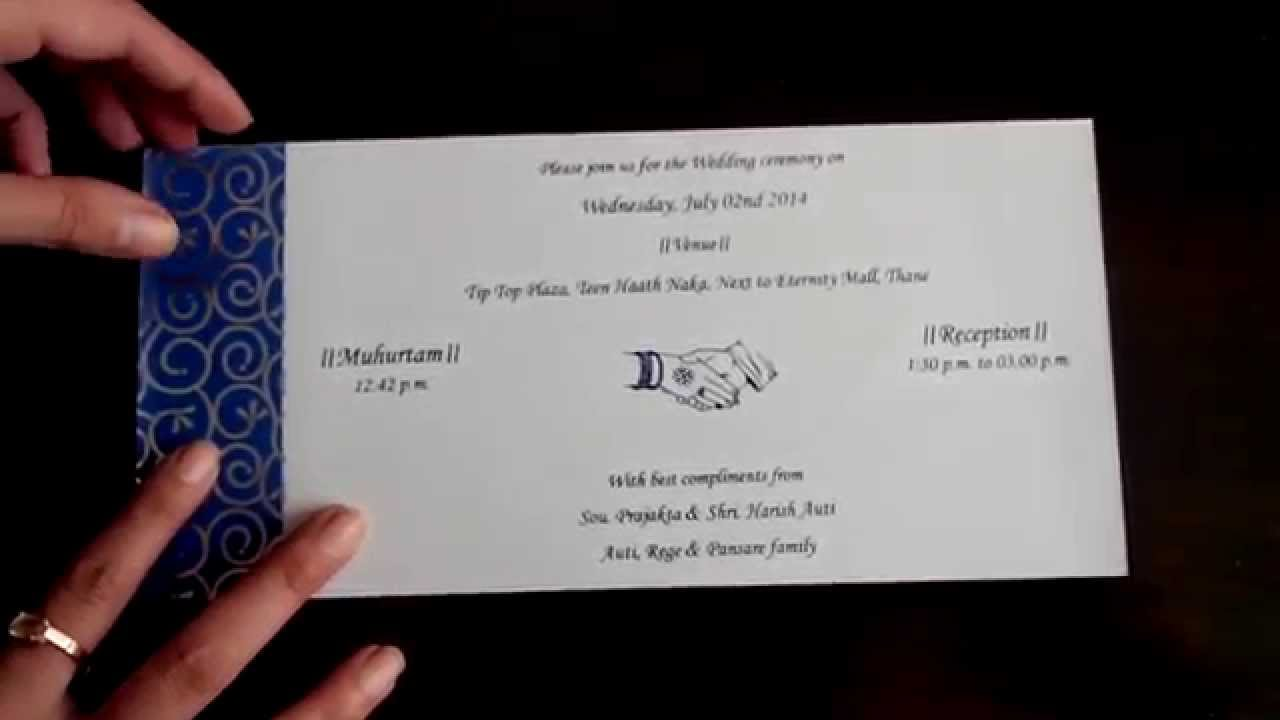 Wedding Invitation In Royal Blue And Silver Colour Youtube