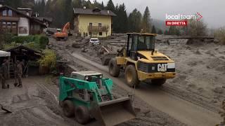 LIVE Alluvione a Dimaro (Trento) fiume di fango sulle cade