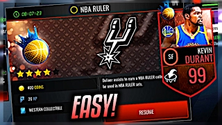 NBA LIVE MOBILE   HOW TO BEAT NBA RULER + GET 99 KD EASY!  BEAT EVERY TYPE! *6 WEEKS IN THE MAKING*