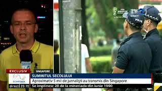 Un direct din Singapore, după summitul Trump-Kim. Transmisiunea a fost în Telejurnalul de la ora 20.