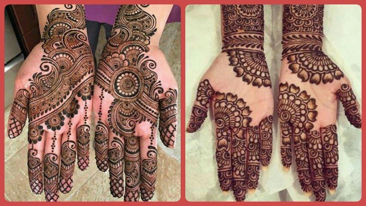 New Stylish Bridal Mehndi Designs For Front Hand Easy Mehndi Designs 2020 Youtube