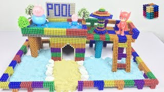 DIY How To Build Most Beautiful Swimming Pool On The Villa House with Magnetic Balls