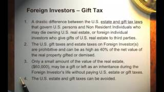 Tax Planning and Foreign Investors in United States Real Estate