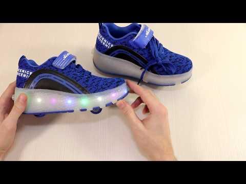 Роликовые кроссовки для ребенка, Aimoge кроссовки на роликах 👟👞👞