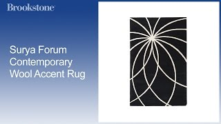 Surya Forum Contemporary Wool Accent Rug