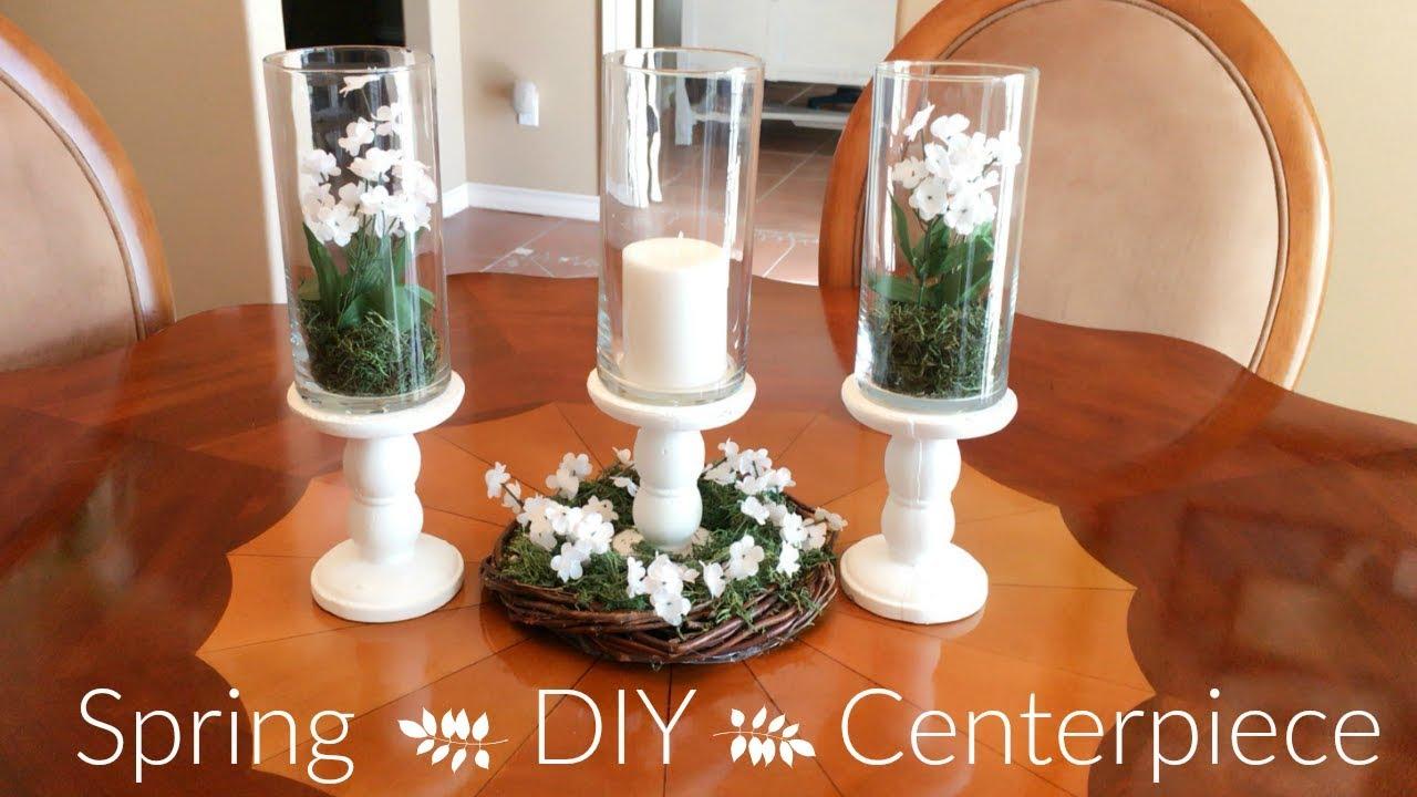 Diy Dollar Tree Spring Centerpiece Ideas Youtube
